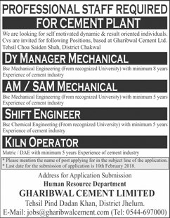 Deputy Manager Mechanical, Shift Engineers Wanted