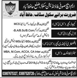 MHSufi Foundation Schools Teachings Jobs