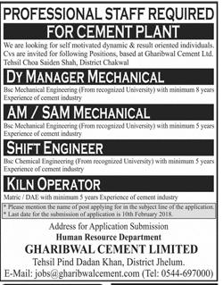 Deputy Manager Mechanical, AM / SAM Mechanical Wanted