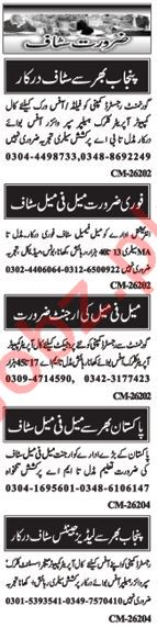 Computer Operator & Clerical Staff Jobs in Islamabad