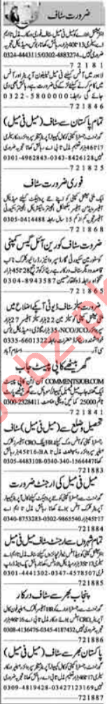 Telephone Operator Required For Private Company In Lahore