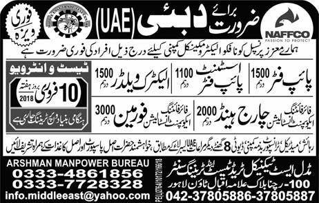 Pipe fitters, Assistant Pipe Fitters Job in UAE Dubai
