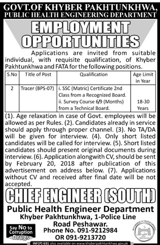 Public Health Engineering Department PHED Jobs 2018