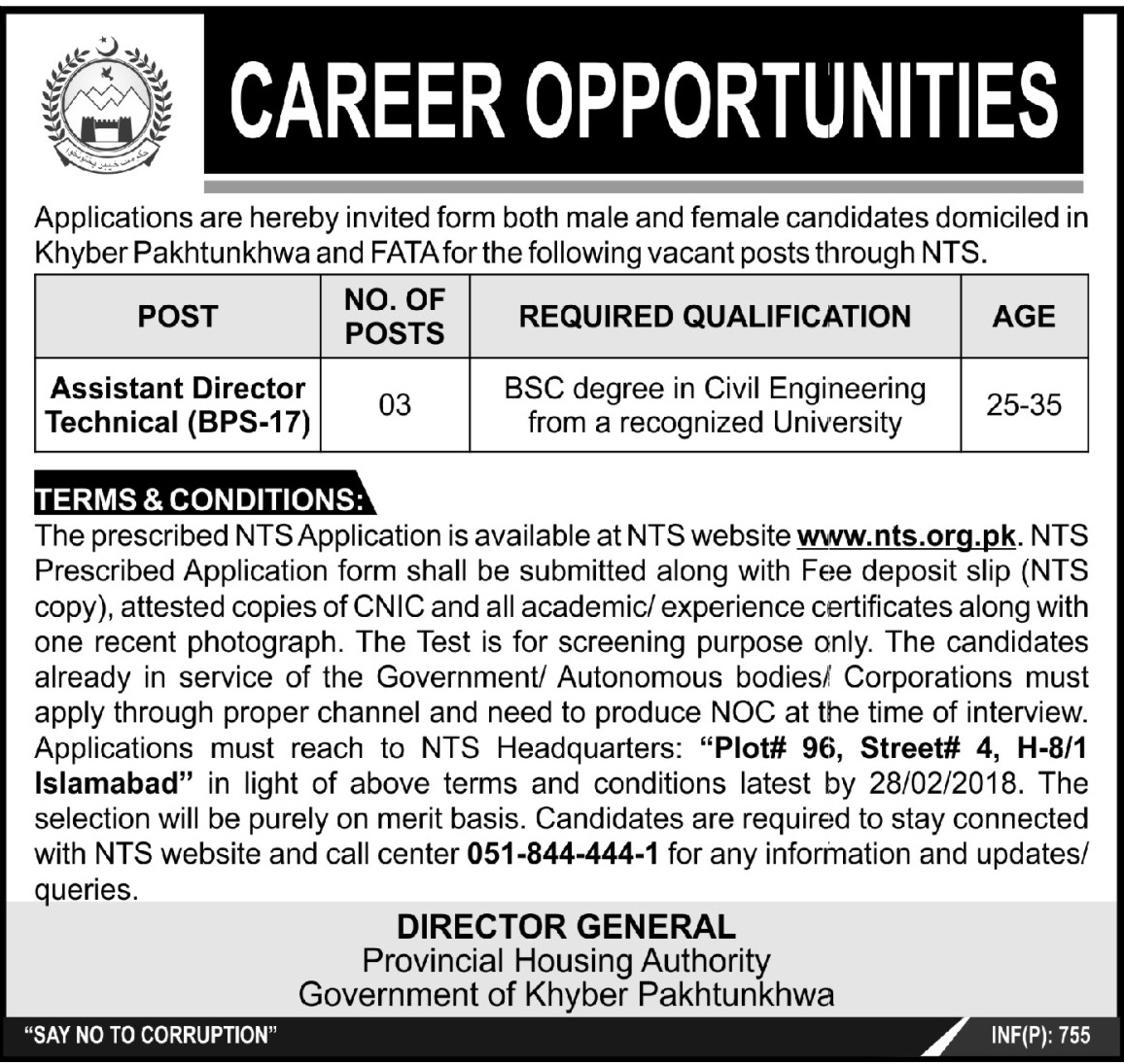 Assistant Director  Job in Provincial Housing Authority