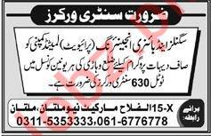 Sanitary Workers Jobs 2018 in Multan
