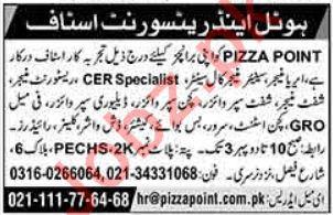 Hotel & Restaurant Staff Jobs 2018 in Karachi