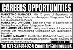 Marketing Managers, Marketing Officers Job Opportunity