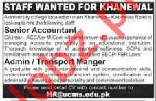 Senior Accountant Jobs in Private Company Khanewal