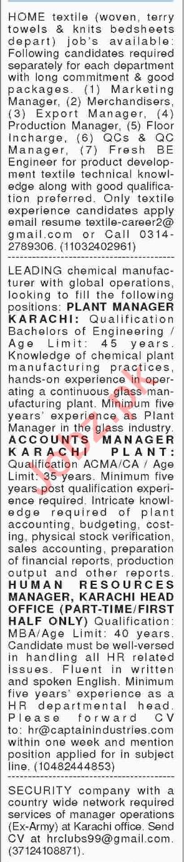 Management Jobs 2018 In Karachi