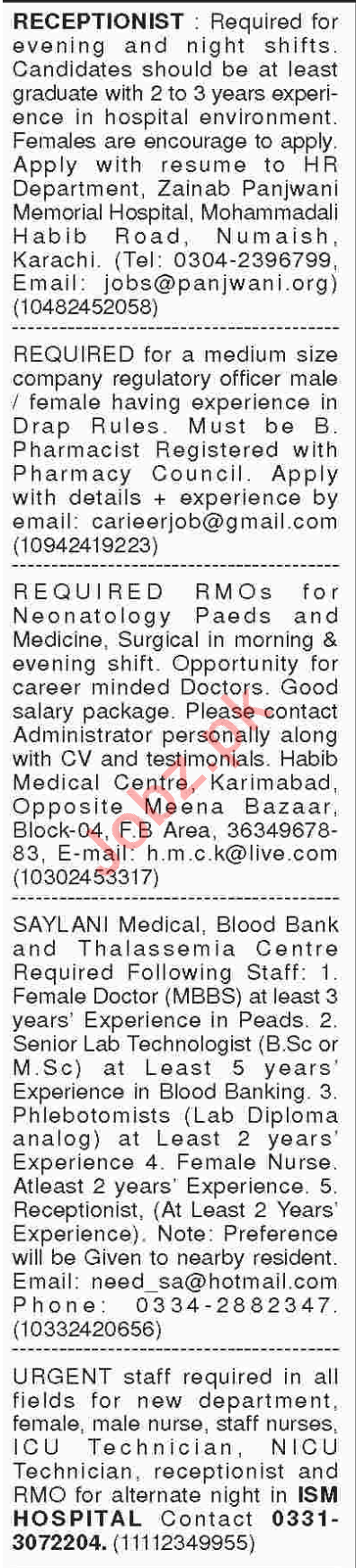Medical Officers, Doctors, Manager, Consultant Jobs 2018