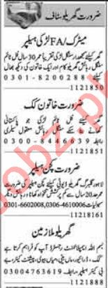 House Staff Jobs 2018 in Faisalabad