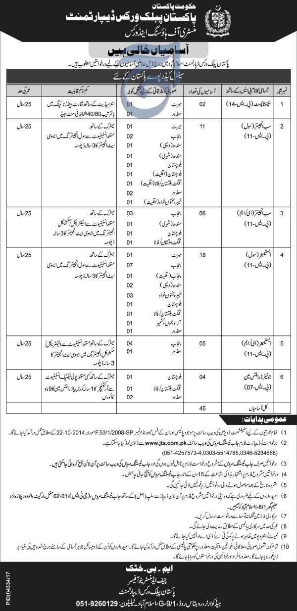 Ministry of Housing and Works Clerical Jobs