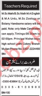 Teacher Jobs in Multan