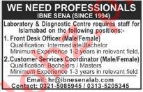 Ibne Sena Lab Lahore Jobs 2018
