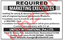 Marketing Executive Jobs in Unitech International
