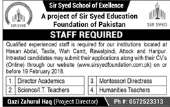 Management Staff Job in Sir Syed School of Excellence
