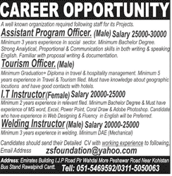 Assistant Program Officers, Tourism Officers Job Opportunity
