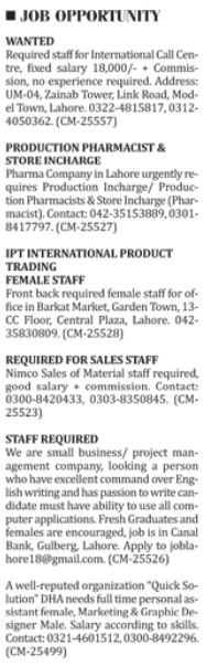 Medical Staff & Office Staff wanted in Karachi