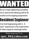 Resident Engineers Job in Large Engineering Consulting Firm