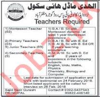 Al Hadi Model High School Muzaffarabad Jobs for Teacher