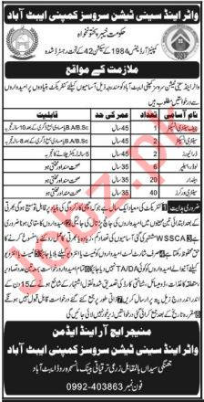 WSSC Abbottabad Jobs 2018 for Sanitary Worker