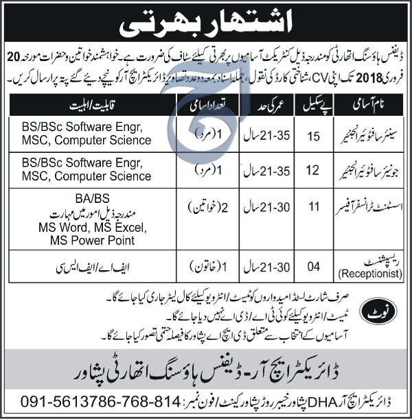 Senior Software Engineers Job in Defence Housing Authority