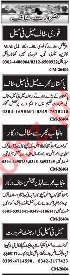 Male & Female Staff Jobs in Islamabad