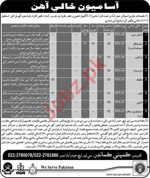 Combined Military Hospital CMH Hyderabad 2018 Jobs