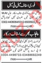 Office Staff required in Lahore
