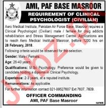 Aero Medical Institute AMI PAF Karachi Jobs 2018