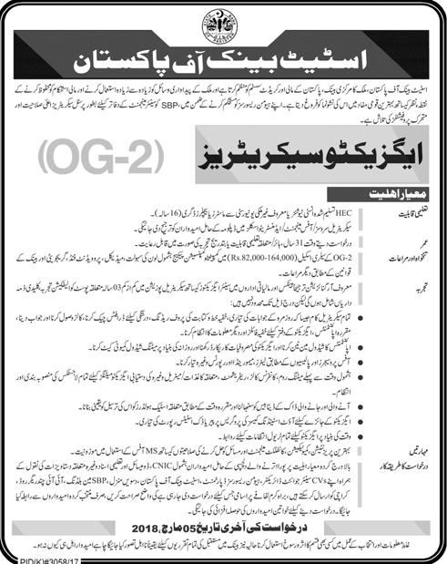 State Bank of Pakistan SBP Jobs