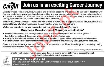 Cargill Corporation Karachi Jobs Business Manager