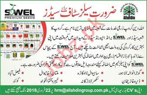 AllahDin Group of Companies Jobs 2018