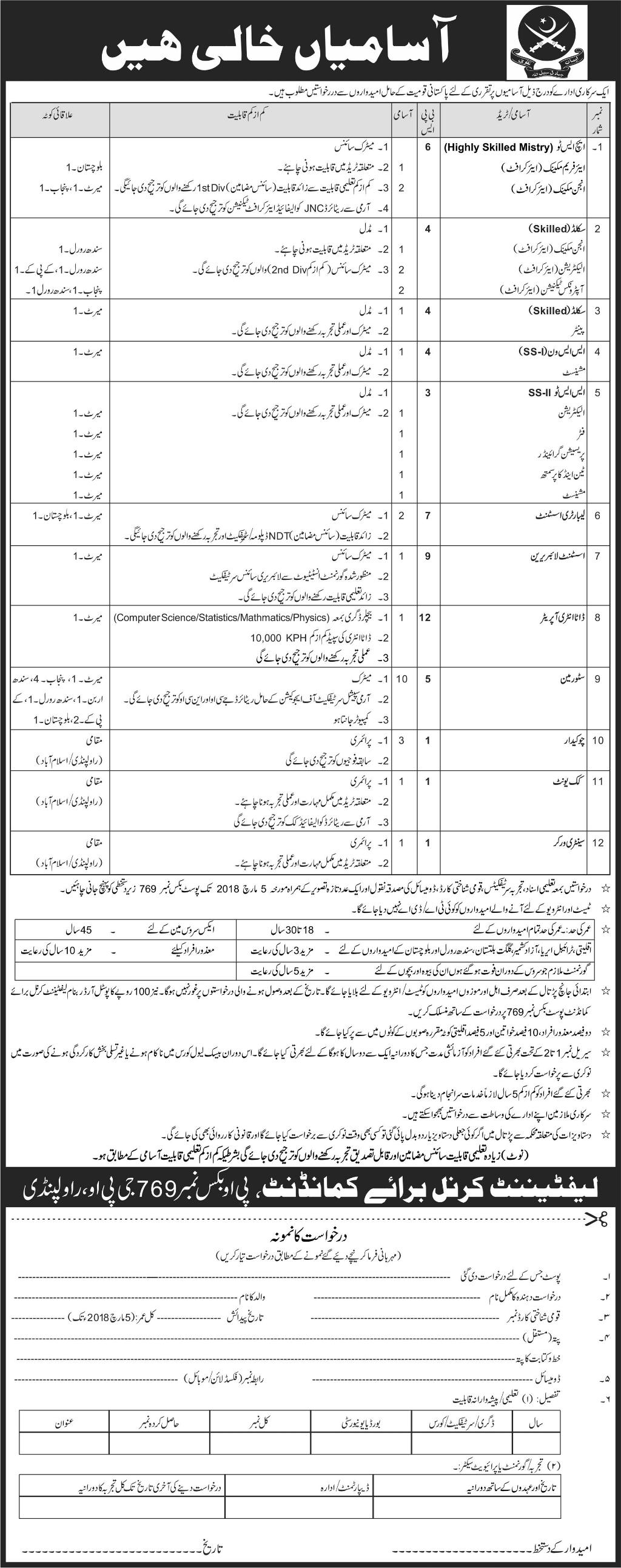 HS-II, Skill Workers, Painters, Machinists Job in Govt Dept