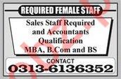 Accountant & Sales Staff Jobs in Multan