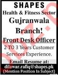 Front Desk Officer Jobs in Lahore