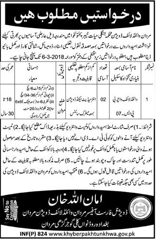 Forest & Wildlife Department Mardan Division Jobs