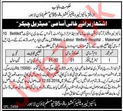 Mines Labour Welfare Organization Punjab Jobs 2018