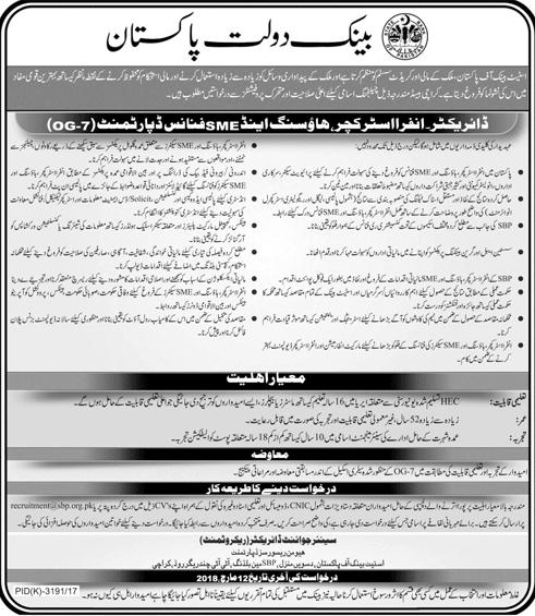 State Bank of Pakistan SBP Director  Jobs