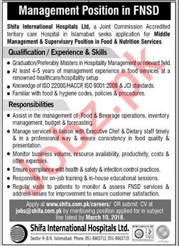 Shifa International Hospitals Ltd Jobs 2018 In Islamabad