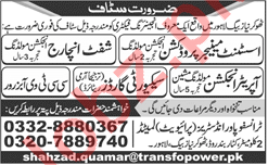 Transfopower Limited Lahore Jobs 2018
