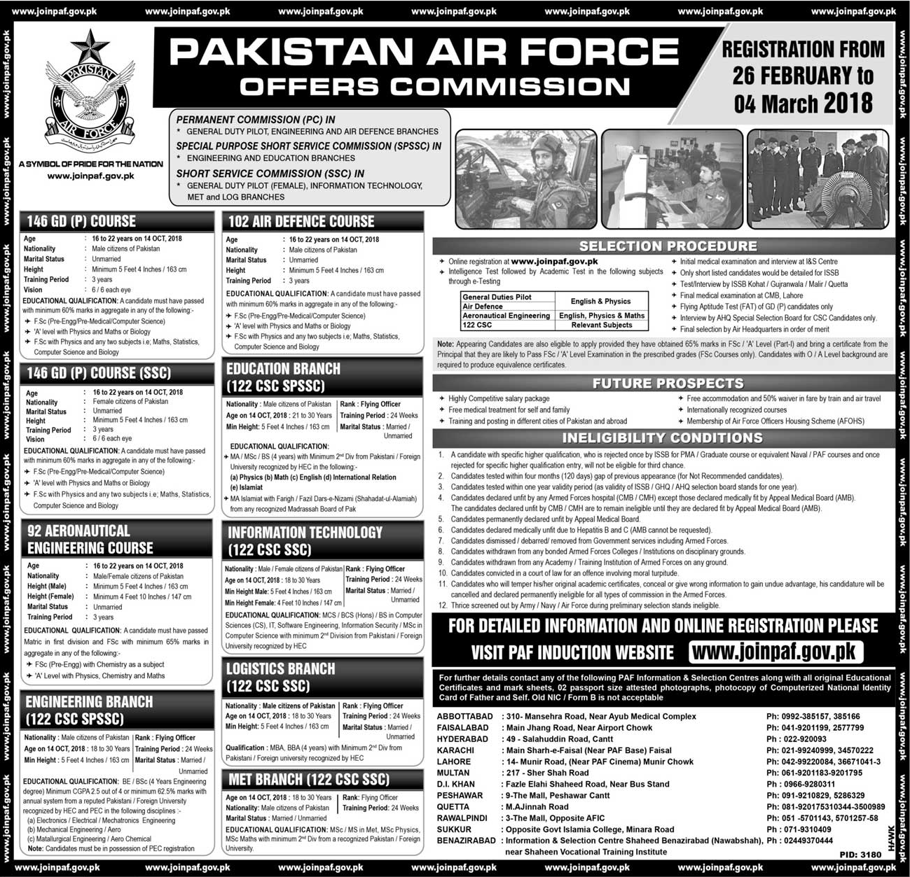 Recruitment of Officers in PAF Through Service Commission