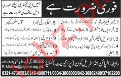 Fabricator, Machinist, Industrial Electrician & Guard Jobs