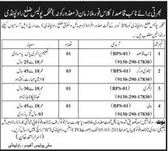 Department of Punjab Police District Rawalpindi Jobs
