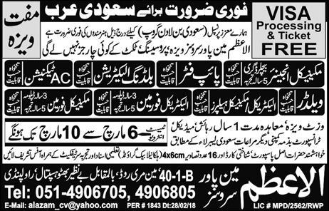 Mechanical Engineers, Pipe Fitters, AC Technicians Wanted