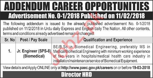 Pakistan Atomic Energy Commission PAEC Jobs 2018 Engineer