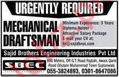 Sajid Brothers Engineering Industries SBEC Pvt Ltd Jobs