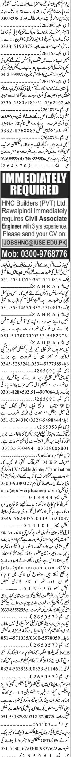 Dispensers, HTV / LTV Drivers, Lady Secretary Wanted