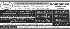 Civil Engineers, LTV Car Drivers Job in Combined Job Service