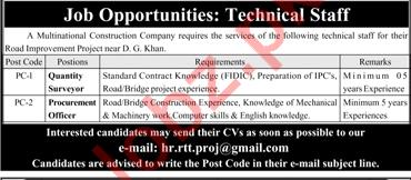 Quantity Surveyor and Procurement Officer Job Opportunities